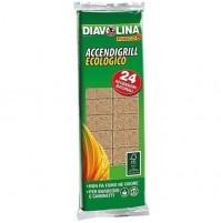 24 Confezioni di Accendigrill Ecologico Diavolina 24 Cubetti