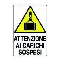 CARTELLO 'ATTENZIONE AI CARICHI SOSPESI'
