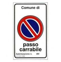 CARTELLO 'PASSO CARRABILE'