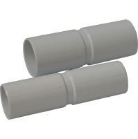 CF. 10 PEZZI Manicotto Cilindrico Tubo-Tubo In Pvc