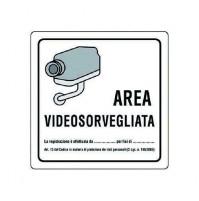 CF 10 PZ CARTELLO 'AREA VIDEOSORVEGLIATA'
