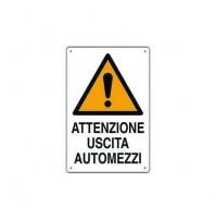 CF 10 PZ CARTELLO 'ATTENZIONE USCITA AUTOMEZZI'