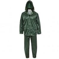Impermeabile Lavoro Poliestere-Pvc Verde Completo Maurer