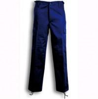 Pantaloni Da Lavoro Multitasche In Cotone Blu