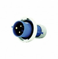 Spina Diritta Industriale 2P+T Ip 67 Blu Maurer