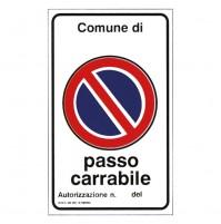 CARTELLO 'PASSO CARRABILE' cm 60 x 40